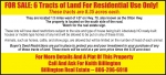6 Tracts of Land for Residential Use Only